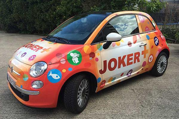 lettrage voiture joker + lotto
